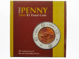 2004 40th Anniversary of the Last Australian 1964 Penny One Dollar Proof Coin