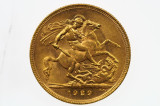 1929 Perth Mint Gold Full Sovereign in Very Fine Condition