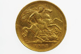 1907 Melbourne Mint Gold Half Sovereign in Very Fine Condition