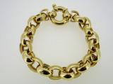 9ct Yellow Gold 20 cm Belcher Bracelet 38.9 Grams