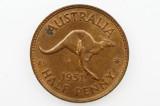 1951 PL Half Penny George VI in Very Fine Condition