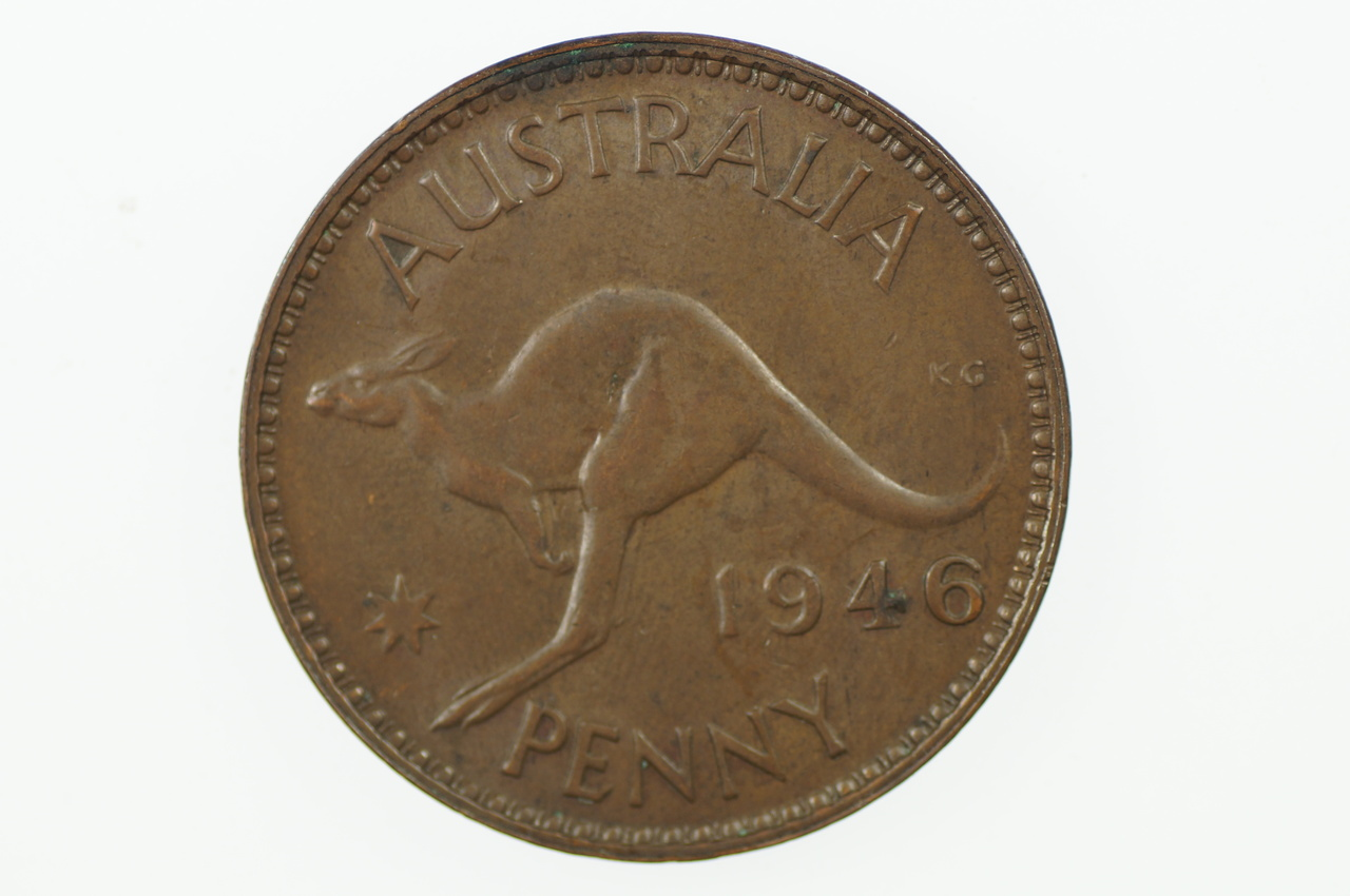 1946 Penny George VI Low Mint in Extremely Fine Condition