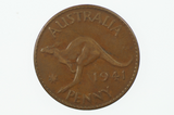 1941 Y. Penny High Dot Rare in Very Fine Condition Reverse