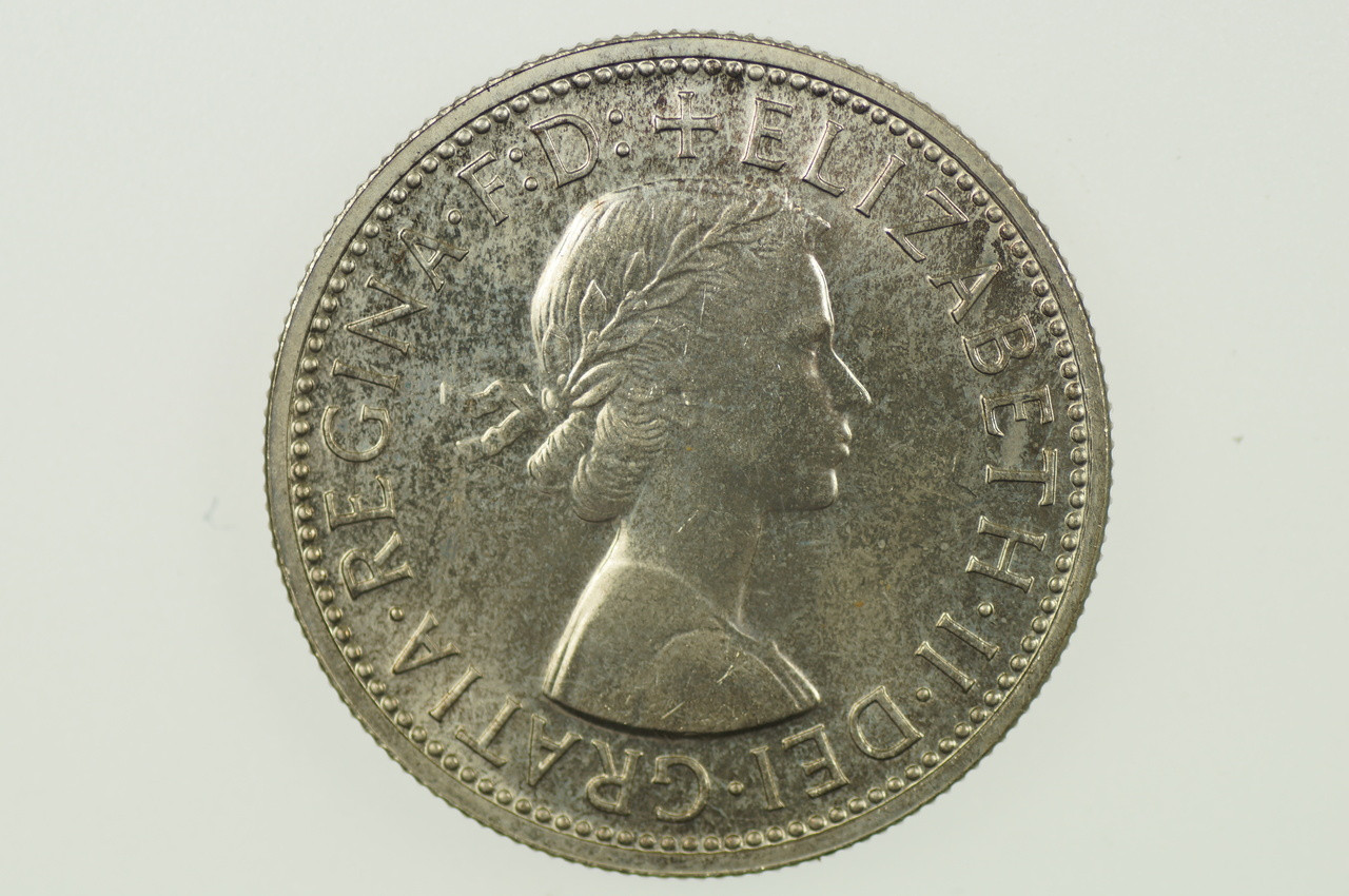 1958 Florin Elizabeth II in Proof Condition Obverse