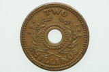 Australian Internment Camps Two Shilling POW Token Almost EF Cond