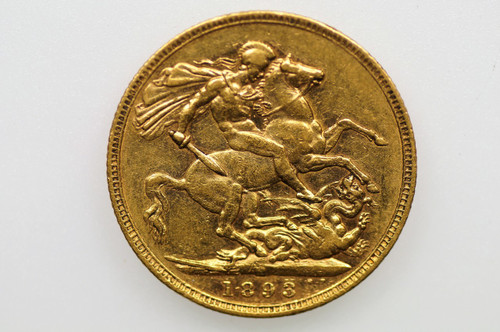 1893 Melbourne Mint Gold Sovereign Jubilee Head in Very Fine Condition