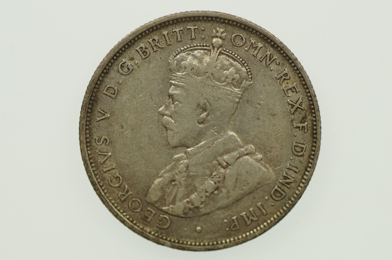 1913 Florin George V in Almost Very Fine Condition Obverse