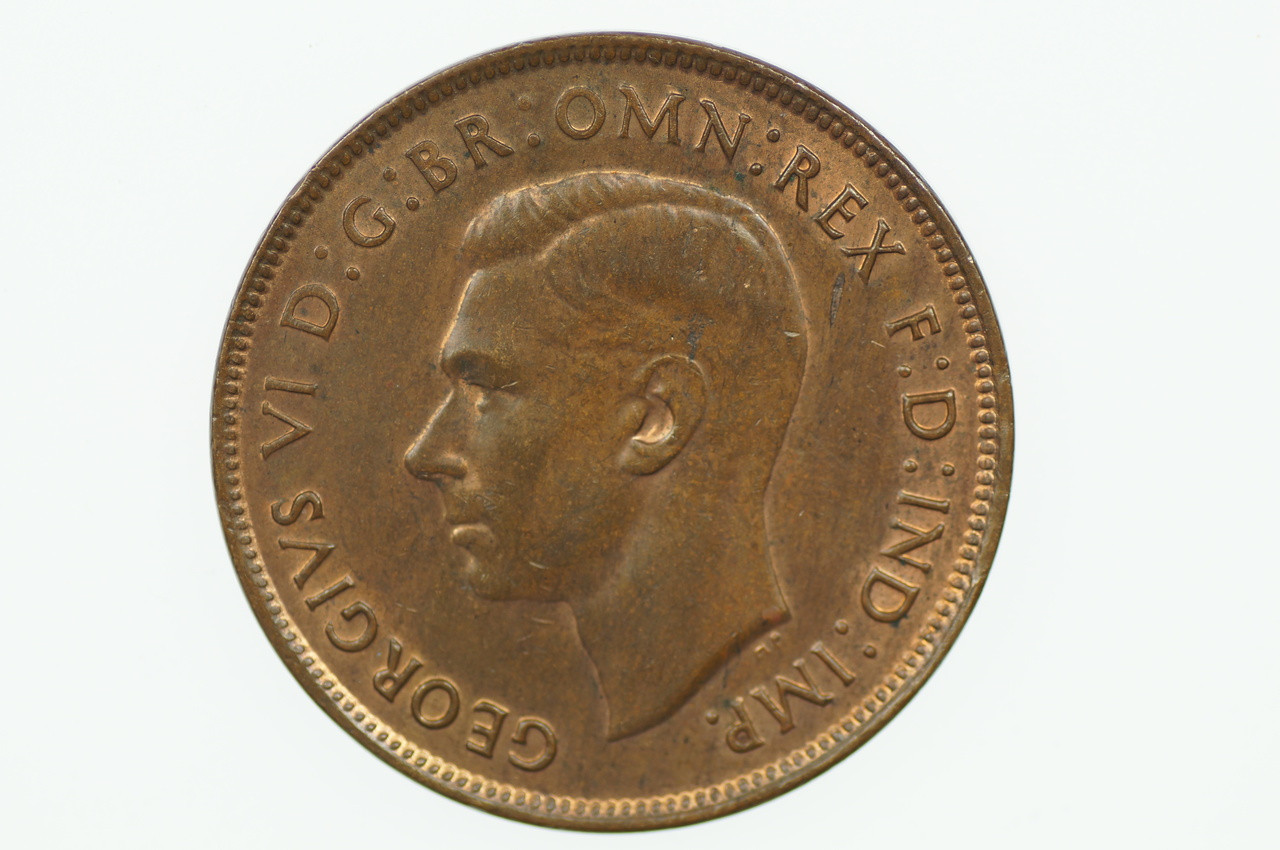1948 Penny George VI in Uncirculated Condition Obverse