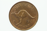1948 Penny George VI in Uncirculated Condition Reverse
