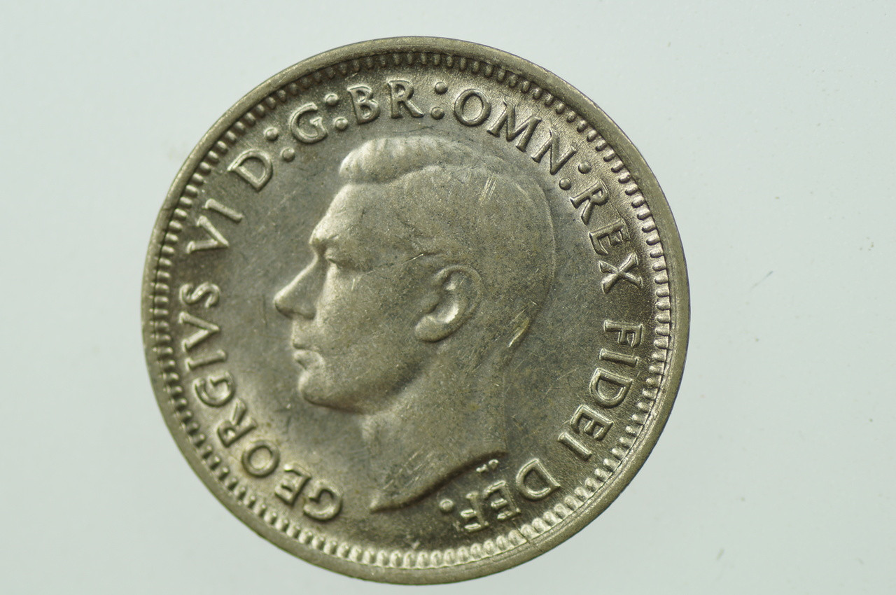 1952 Threepence in Almost Uncirculated Condition Obverse