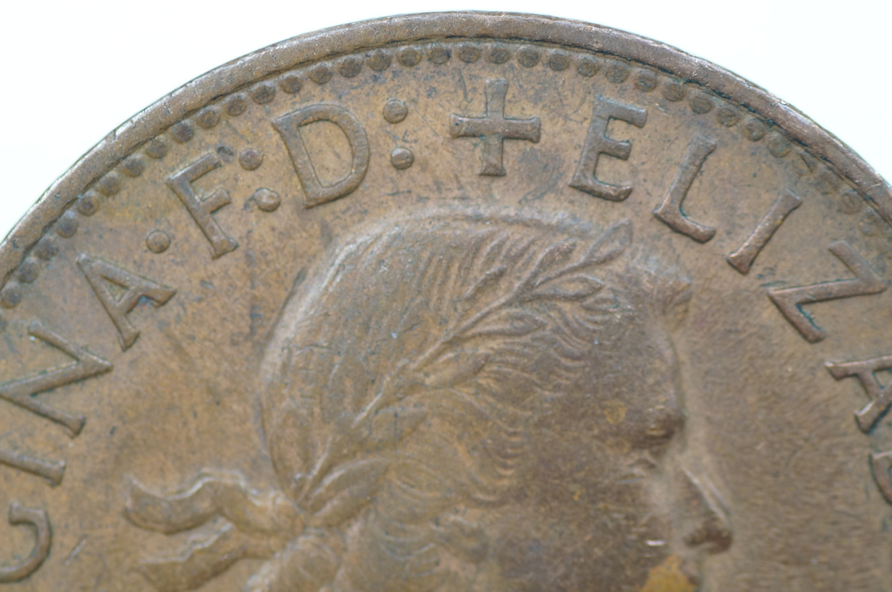 1962 Penny Double Nose Variety in a EF Condition Close Up