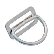 45 Degree Billy Ring   Stainless Steel D-Ring   Scuba Diving Hardware