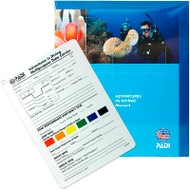 PADI Adventures in Diving Manual with Data Carrier Slate