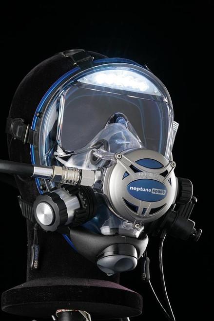 Ocean Reef Visor Lights pre-assembled on Neptune Space G. Divers Mask