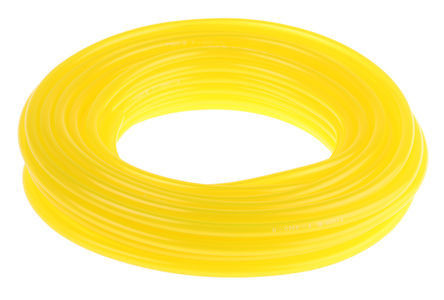Tygon hose in fluorescent yellow.