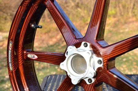 Front 'Orange Inked' BST carbon wheel