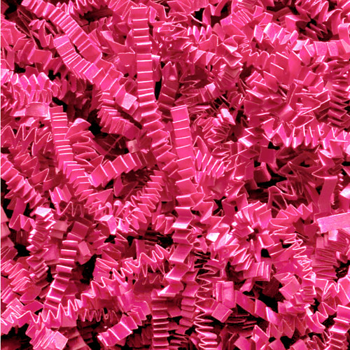 Dark Pink Crinkle cut gift wrap paper shredding for gifts, presents, craft projects and wedding favours