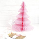 Modern and alternative light pink Honeycomb Christmas Tree decoration for table centrepieces or party decor