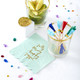 Colourful tassel party picks for cocktail drinks and cupcake toppers