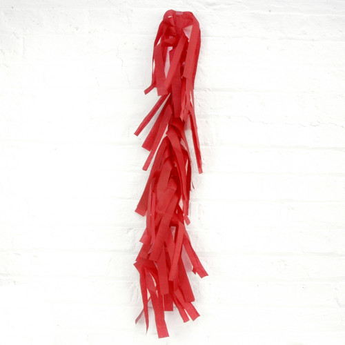 Red tissue paper tassel balloon tail