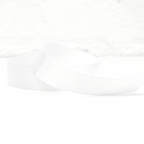Wide white ribbon for tying on to balloons and decorating