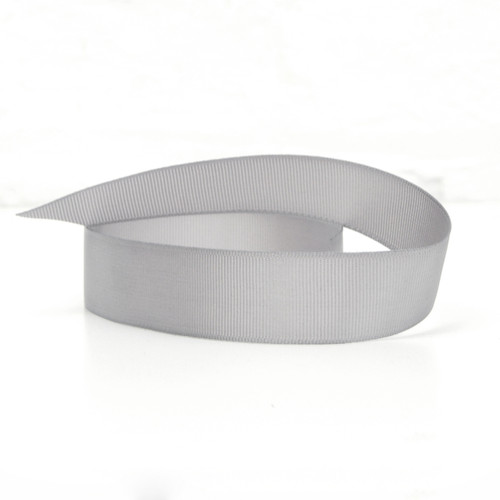 Wide grey ribbon for tying on to balloons and decorating