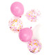 Pink champagne confetti balloons