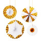 Giant Metallic Gold Pinwheel Fan Decorations for Birthday Parties and Weddings