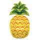 Holographic Pineapple Party Balloon for Hen Dos, Tropical Parties or Birthdays