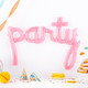 Pink Script Party Balloon for Birthdays, Weddings or Hen Parties
