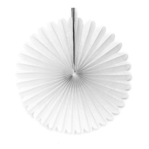 White Small Tissue Paper Fan Decoration for Birthday Parties, Weddings, Baby Showers and Hen Dos