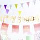 Gold Happy Birthday Script Bunting Decoration