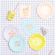 Pastel Mix tableware for birthday parties, tea parties and hen dos with fun party phrases