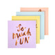 Pastel mix caption paper napkins for birthday parties, tea parties and hen dos