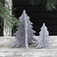 Grey felt Christmas tree decoration for your home or dining table