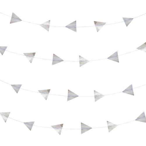 Silver foil triangle garland decoration