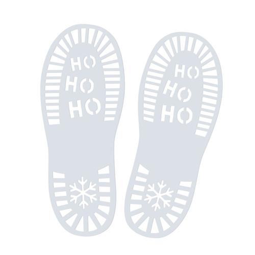 Santa footprint stencils for creating a fun Christmas Eve!