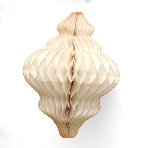 Ivory Christmas Honeycomb Lantern Decoration