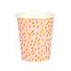 Blush pink and metallic gold paper party cups for baby showers, hen parties and birthday parties