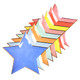 Star paper party plates in a rainbow of colours