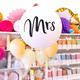 Giant Mrs Balloon for wedding decoration and fun photographs!