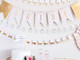 Wedding themed hen party bunting decoration set for bridal showers