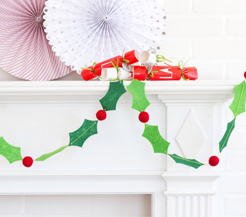 Holly and Berry Garland Decoration for decorating your home and Christmas Parties