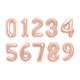 Rose Gold Foil Helium Number Balloon for Birthdays and Anniversaries