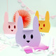 Pink bunny rabbit gift box for Easter, children's birthday parties or presents