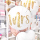 Mrs Gold Glitter Foil Balloon for Hen Parties and Weddings