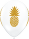 Gold Pineapple Party Balloons for hen dos, bridal showers, tropical birthday parties, bridal showers and weddings.