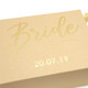Luxury personalised bride to be gift box to give a present on her wedding day