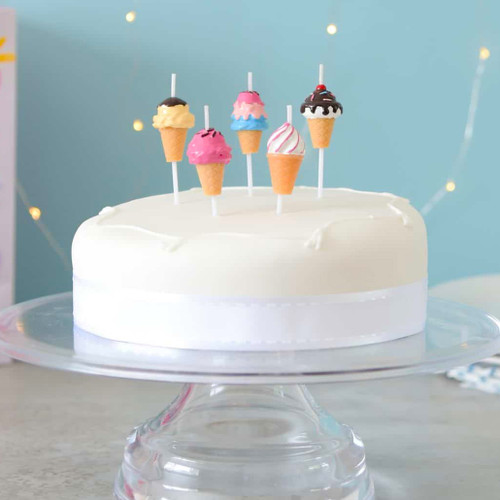 Ice Cream birthday cake candles for summer celebrations and childrens parties