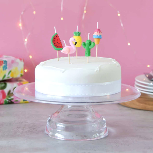 Tropical themed birthday cake candle for summer parties, hen dos and celebrations